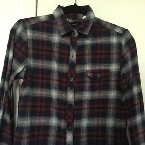 Urban Outfitters BDG Plaid Flannel Blue Red XS